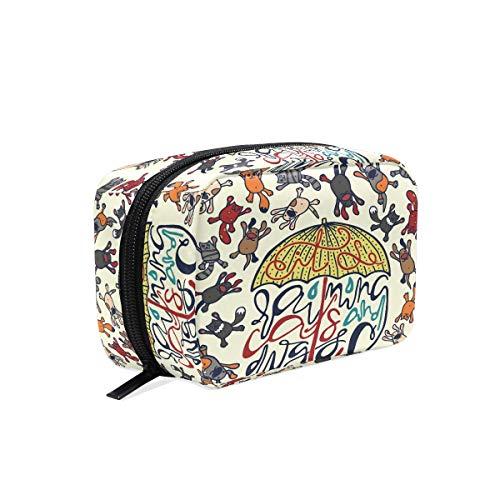 Ombrello cane gatto borsa trucco cosmetico toeletta borsa da viaggio custodia per donne, cucciolo del gattino Portable organizer Pouch Bags box