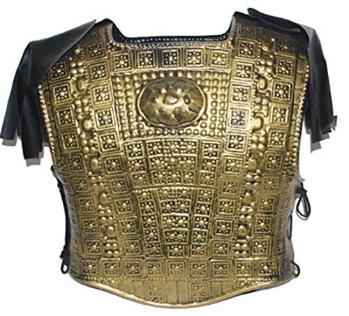 Karnevalsbud - Herren Ritter Kostüm Brustpanzer glänzender Schutz Warrior Kostüm Kämpfer, One Size, Bronze