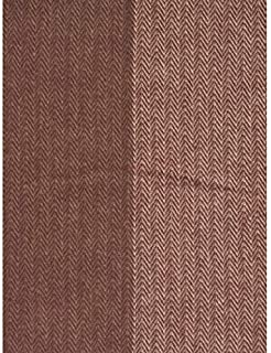 Nido Notte Italia 奢華流蘇裝飾超大抱毯 Chevron 人字紋 暗紅色 灰褐色