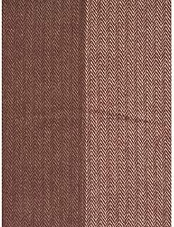 Nido Notte Italia Luxury Fringed Decorative Oversized Throw Blanket Toss Chevron Herringbone Pattern in Shades of Burgundy Pink Gray Tan
