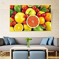 キャンバスに印刷グリーンフルーツレモン壁アート写真キャンバス絵画キッチン装飾ポスターとプリント壁の写真リビングルーム50x70cmフレームなし