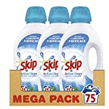 Skip Lessive Liquide Active Clean 75 Lavages (Lot de 3x25 Lavages)