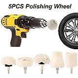 Tampones para pulir automóviles 5PCS disco de pulido de disco for el pulidor y destornillador eléctrico del coche Pulidora en la rueda de pulido de pintura Care Accesorios for herramientas