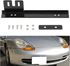 cciyu Front Bumper Tow Hook License Plate Mount Bracket Holder Bolt Universal
