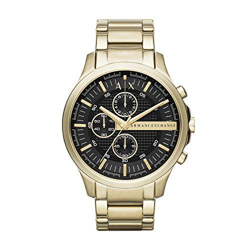 Armani Exchange męski zegarek kwarcowy bransoletka Rozmiar uniwersalny złoto