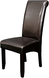 Monsoon Pacific Milan Faux Leather Dining Chairs (Set of 2), Dark Brown
