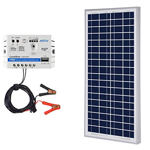ACOPOWER 12V Solar Charge Kit,Polycrystalline Solar Panel