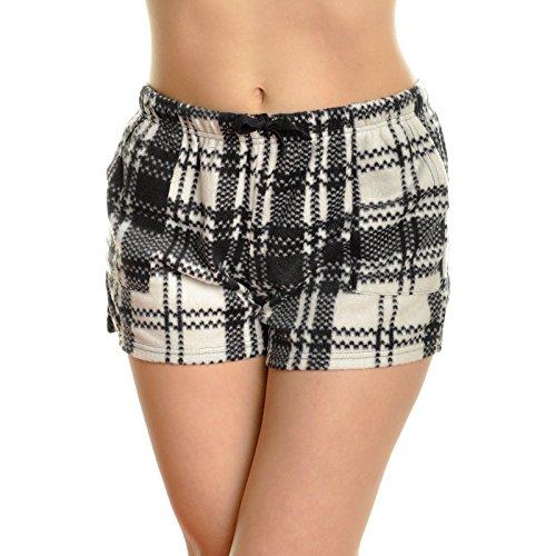 Angelina Women's Cozy Fleece Pajama Shorts Free Mystery Tank TOP, 93121 BWCHK_M