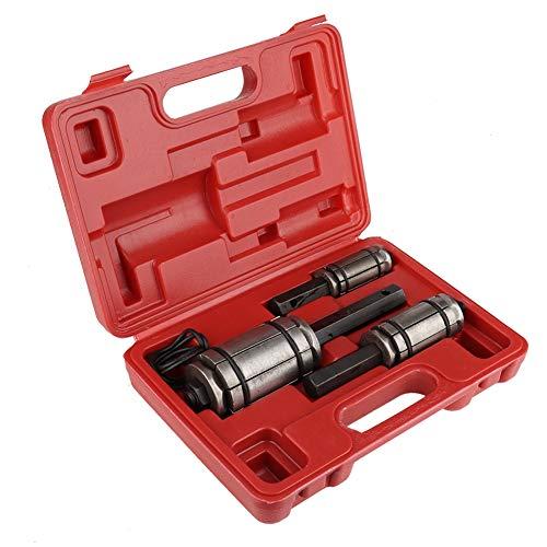 Auspuffrohr Aufweiter Werkzeugset, 3-Teiliges Endrohr Expander Auspuff Spreader Werkzeugset Aufweiter Rohrausweiter Rohrspreizer Set mit Blasform Aufbewahrungskoffer