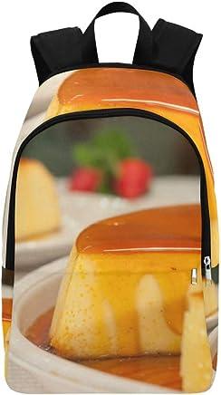 Mochila casera de Caramelo de natillas de Caramelo casera Bolsa de Viaje Mochila Escolar para Hombres