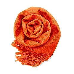 orange scarf, fall accessories