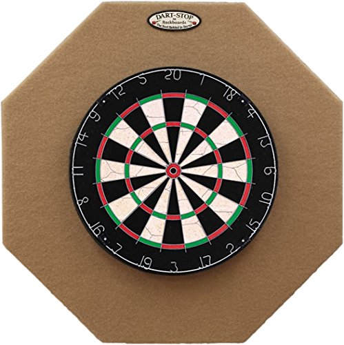 Dart-Stop 29 inch Tan Octagon Pro Dart Board Backboard | Wall Protector | Dartboard Surround