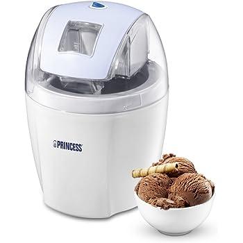 Princess 282602 máquina para helados - Heladora (Transparente, Color blanco, 34,7 cm, 34,8 cm, 43,7 cm, 220-240V, 5W): Amazon.es: Hogar