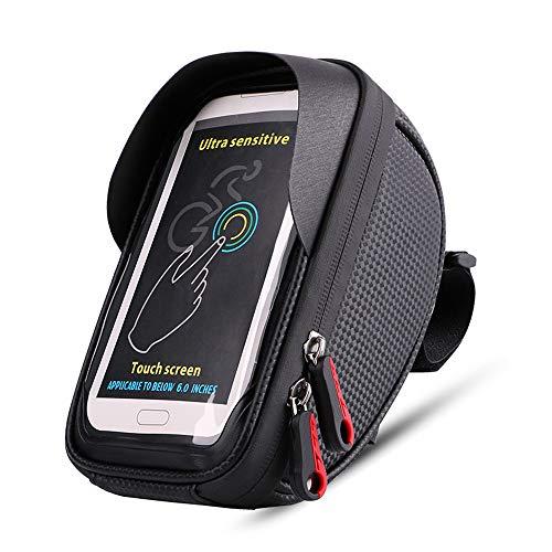 Fahrradkoffer Hochwertige Fahrrad wasserdichte Touchscreen Handytasche Mountainbike Front Beam Tasche - kann während der Fahrt aufgeladen werden Multifunktions Zubehör für den hinteren Fahrradsattel