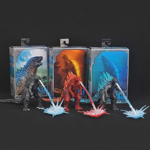 3 Unids Figura de Anime Godzilla King of Monsters Versión de Película Energía Nuclear Inyección Energía Fuego Ardiente Articulado PVC Figuras de Acción Modelo de Mano Juguetes 18Cm