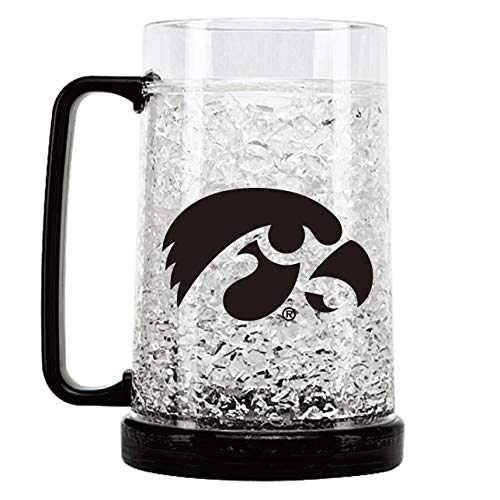 NCAA Iowa Hawkeyes 16oz Crystal Freezer Mug