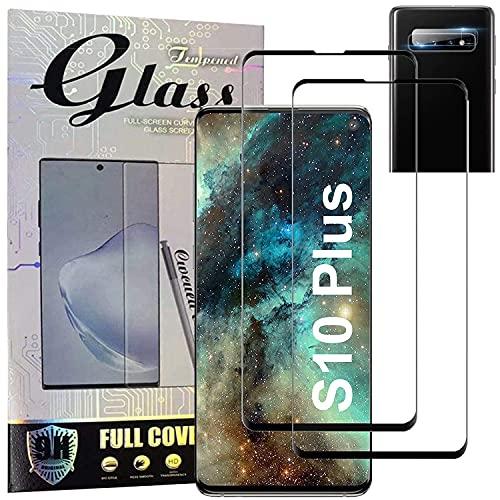 Samsung Galaxy S10 Plus Displayschutzfolie [2+1 Pack] Galaxy S10+ Vollständige Abdeckung Panzerglas Schutzfolie, [Anti-Scratch] 3D HD Fingerabdruck entsperren Schirm Schutz für Samsung S10 Plus
