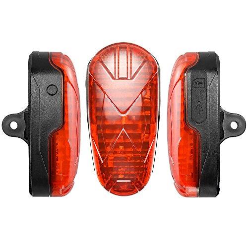 KUCE GPS Rastreador de Bicicletas,Antirrobo Luz Trasera de Bicicleta Impermeable Dispositivo de Advertencia Seguro en Tiempo Real Localizador GPS de Alta precisión Alarma de Movimiento