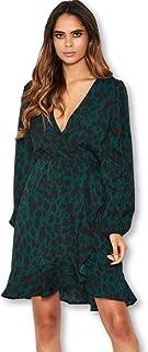 AX Paris Women's Leopard Print Wrap Dress