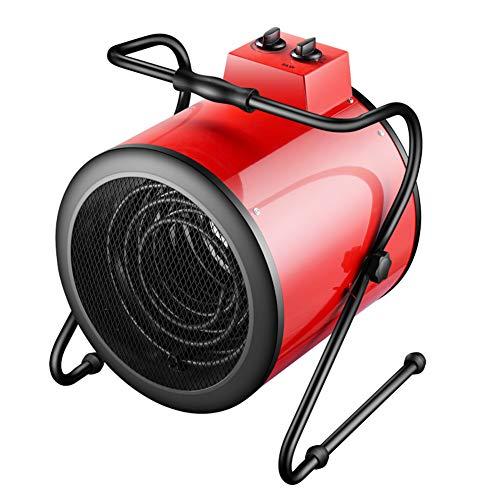 Joyfitness Calentador de 9000W Industrial Taller de Ahorro de energía de calefacción eléctrico pequeño Speed Hot Extintor de calefacción Tubo,Rojo