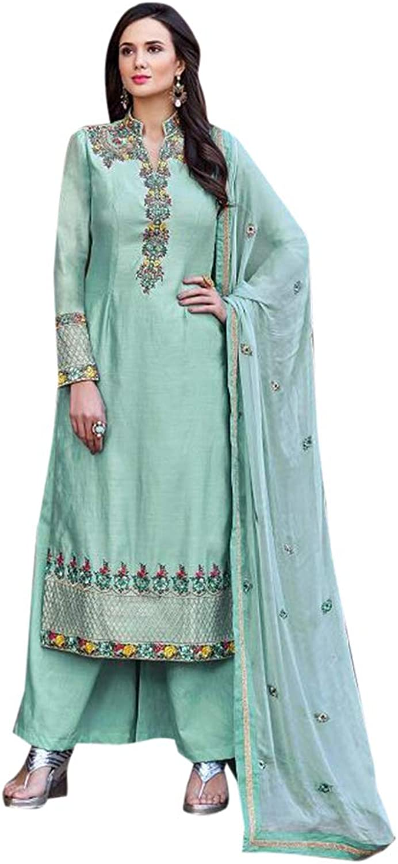 Bollywood Indian Ethnic Plazo style Salwar Kameez Suit Muslim Women Designer Party wear Semistitch 7939 6