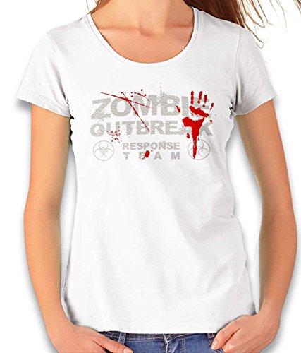 shirtministro Zombie Outbreak Response Team – Camiseta para mujer – Muchos colores/S – XXL Blanco S