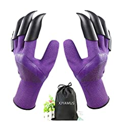 ★ Quick and Easy to Plant - Garden genie gloves with 4 Built-in durable ABS Plastic Claws on each hand, Easy to dig and plant without hand tools in gardening work! ★Waterproof and Puncture Resistant: - Using natural latex rubber coating material. Wat...
