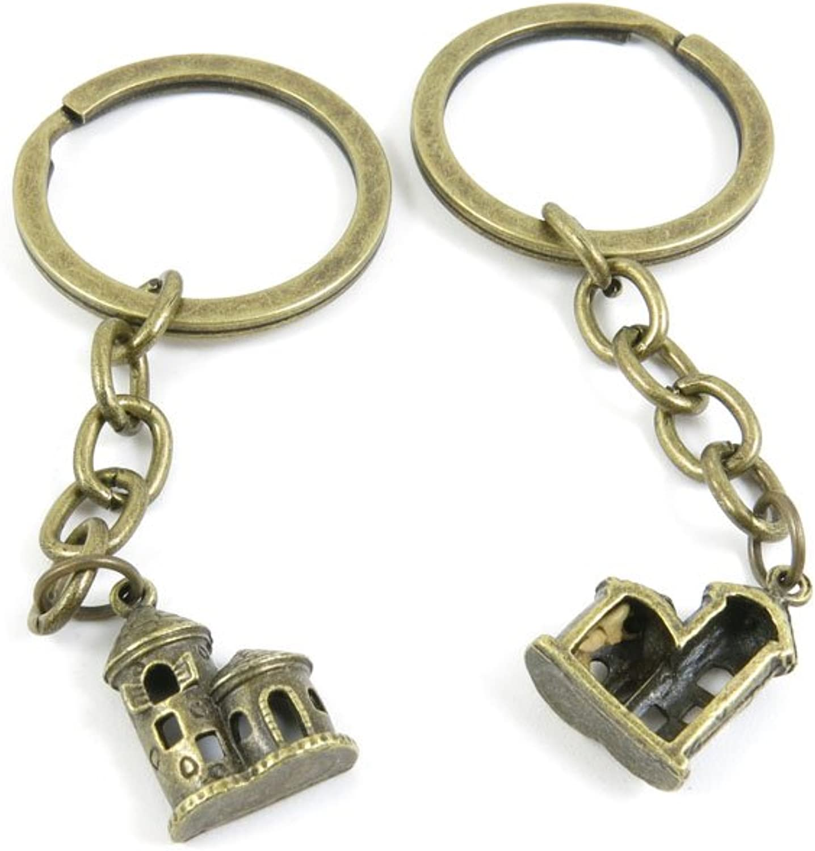 210 Pieces Fashion Jewelry Keyring Keychain Door Car Key Tag Ring Chain Supplier Supply Wholesale Bulk Lots Z2WM7 Castle