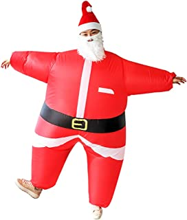 Inflatable Christmas Santa Claus Suit Unisex Adult Costume Cosplay Party