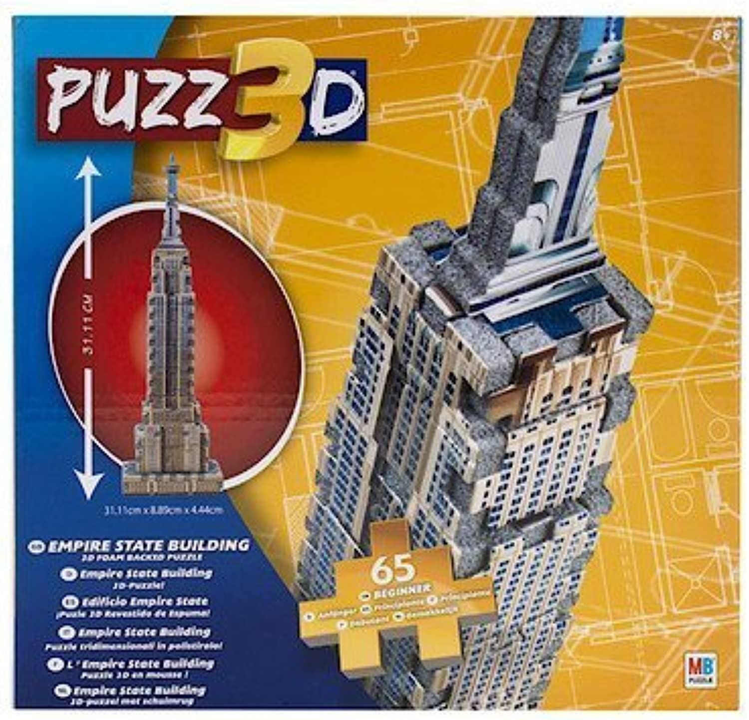 Puzz 3D 65 piece Empire State Building 65 Piece Puzzle by Cardinal