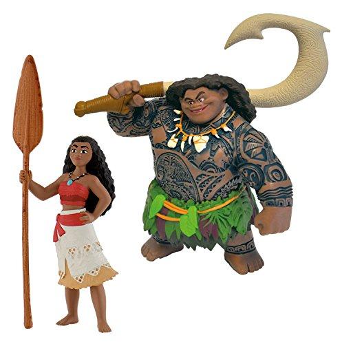 Bullyland Vaiana + Maui - Figuras de Juguete para niños