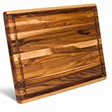 XXX-Large Teak Wood Cutting Board with Juice Groove - [24x 18x...