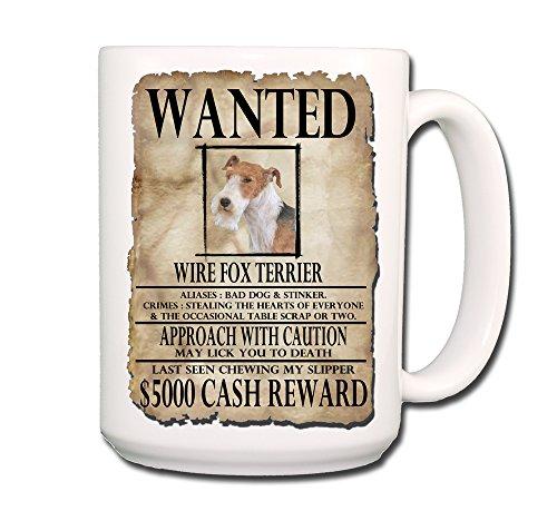 Wire Fox Terrier Wanted Poster Coffee Tea Mug No 2 15 oz