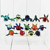 Mdcgok Super 14 unids/Set Dibujos Animados 3-4 cm Mini Slugterra decoración Figuras de acción Juguetes de PVC muñecas Juguetes para niños