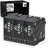 JARBO Ersetzt für Epson 27XL 27 Druckerpatronen (3x Schwarz) mit hoher Reichweite für Epson WorkForce WF-3640 WF-3620 WF-7720 WF-7715 WF-7710 WF-7620 WF-7610 WF-7210 WF-7110