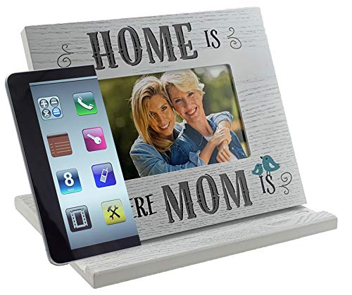 PixPad - Home is Where MOM is: All-in-One Adjustable Tablet Stand I Phone Stand I Book Stand I Picture Frame I for iPad, Tablet, E-Reader, Book, and Phone.