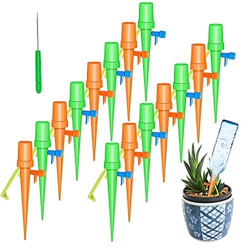 Irrigazione Balcone, 15Pcs Irrigazione a Goccia per Vasi Irrigatore Automatico Vaso Innaffiare Piante in Vacanza Innaffiatore da Giardino Dosatore Acqua per Piante