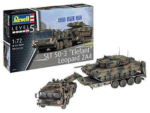 """Revell 03311 SLT 50-3\""""Elefant\"""" und Leopard 2A4, 1:72 originalgetreuer Modellbausatz für Experten, farbig"""