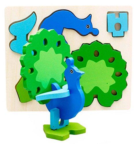 Désassemblage Puzzle Dimensional Peacock Bois Puzzle (3-6 ans)