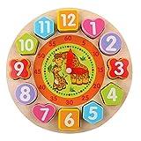 ACHICOO Reloj de Madera con Rompecabezas y Reloj Digital cognitivo, Reloj de Madera