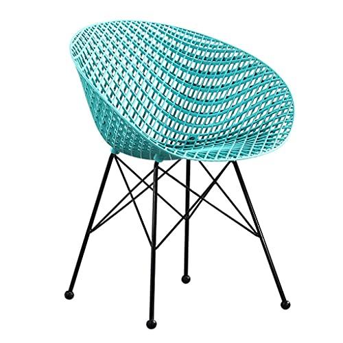 HLY Sillas comerciales, cocina, comedor, sillón, respaldo alto, sofá, silla, marco, tejido, malla, diseño, vintage, mostrador, ergonómico, oficina, recepción, silla (Color: Red, Size: 4),Azul,1