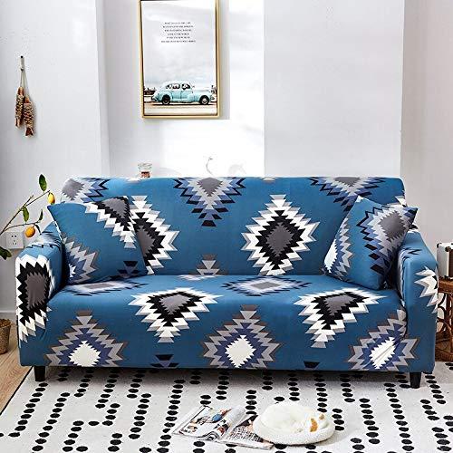 WXQY Funda de sofá elástica a Rayas Simple combinación de Funda de sofá elástica Moderna Esquina en Forma de L Funda de sofá Todo Incluido A30 4 plazas