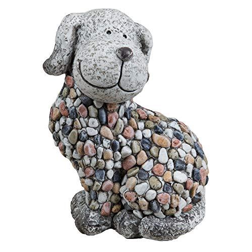 Country Living Mosiac Polystone Dog Garden Ornament Figurine 29 cm