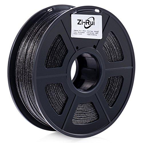Zi-Rui Marble Color 3D Printer PLA Filament,Sparkly Black,1.75mm,Dimensional Accuracy+/- 0.03 mm, 2.2LBS.