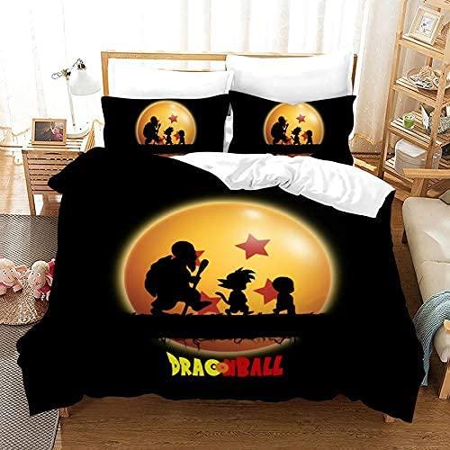 Copripiumino 3D Dragon Ball Monkey King, Kobayashi e la Fata Tartaruga Set copripiumino e federa per letto singolo, matrimoniale, king e king size,1 copripiumino(200cm x 200cm)+ 2 federe(50cm x 75cm)
