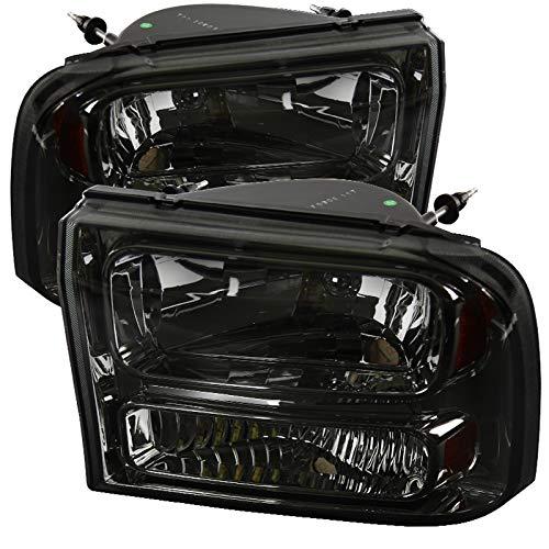Carpartsinnovate For Ford 99-04 F250 F350 Super Duty 00-04Excursion Smoke 1PC Headlights Head Lamps