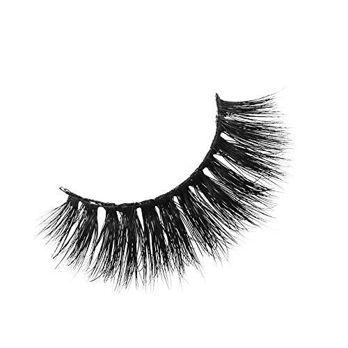 Nourich 1 Pair 3D fake eye lashes,Long Cross Party False Eyelashes Black Band Fake Eye Lashes,Fashion False Eyelashes