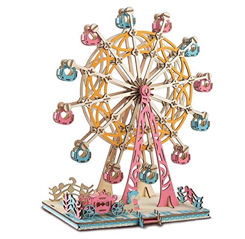XLQ 3D Puzzles - Wooden Ferris Wheel Toys,DIY Assembly Model Kits for Adults And Kids (295 Piece)