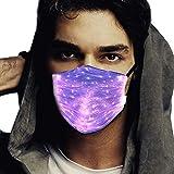 LED Rave Mask - LED Light Up Mask - Christmas Rave Masks for Men & Women - Party Costume Glow Mask - 7 Color Light Mask(Black)