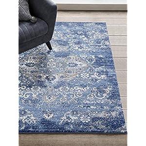 4620 Distressed Denim 8×10 Area Rug Carpet Large New
